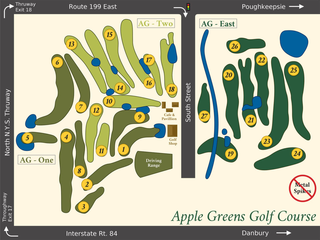 Apple Greens Golf Course - Course layout sheet