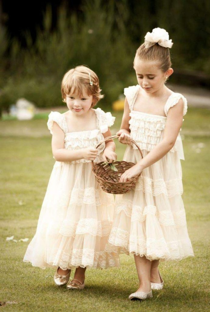 two young flower girls